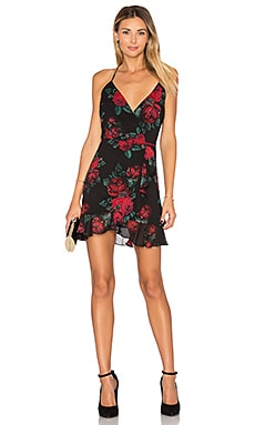 Gigi Wrap Dress in Rose Print