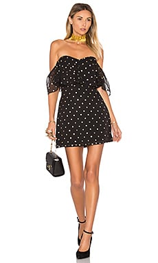 Lush Dress in Gold Dot