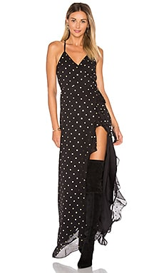 Dream of Me Dress in Gold Dot