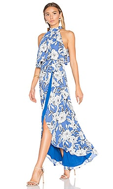 Golden Ray Maxi Dress in Riviera Floral