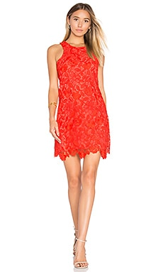 Caspian Shift Dress in Red