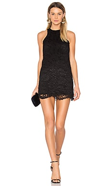 Caspian Shift Dress en Noir