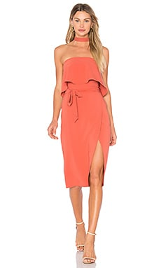 x REVOLVE Max Midi Dress in Blood Orange