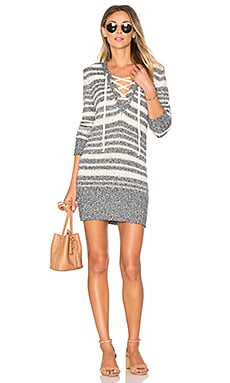 Simply Mine Sweater Dress in Navy Stripe