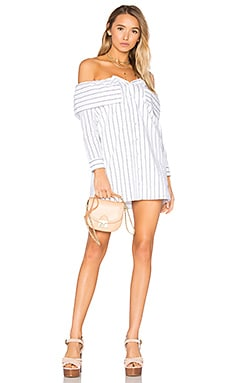 x REVOLVE Fold Over Dress in Stripe