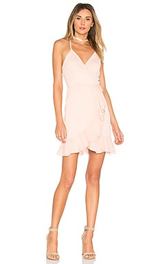 x REVOLVE Gigi Wrap Dress in Blush