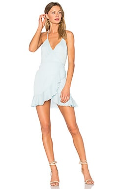 Gigi Wrap Dress in Sky