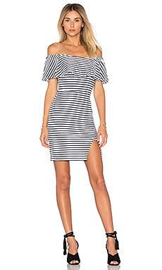 Rising Sun Mini Dress in Navy Stripe