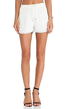 Lovers + Friends Island Babe Shorts in Ivory