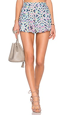 Lovers + Friends Sasha Shorts in Spring Geo