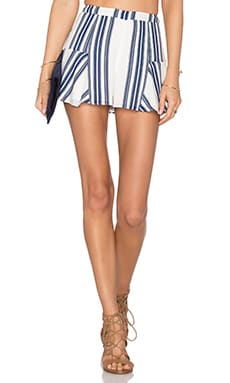Lovers + Friends Oasis Skort in Navy Stripe