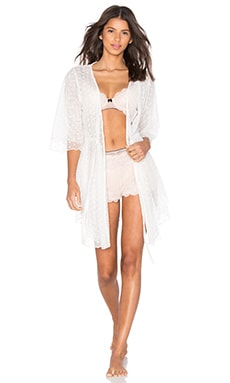 Lovers + Friends Sunday Morning Robe in Ivory
