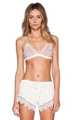 Lovers + Friends Lovely Lace Bra in Ivory