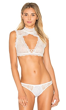 Lovers + Friends Keep It Fancy Bra Top in Coconut
