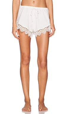 Lovers + Friends Loungin' Around Shorts in Ivory