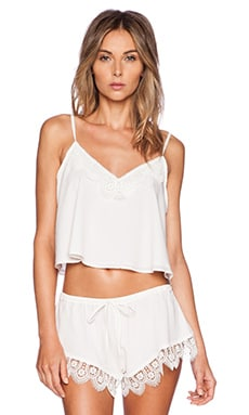 Lovers + Friends Breakfast in Bed Camisole in Ivory