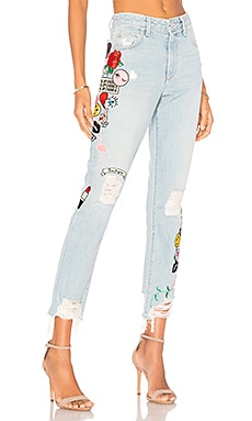 x REVOLVE Logan High-Rise Tapered Jean