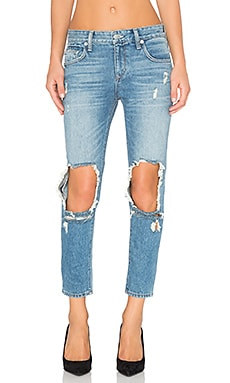Lovers + Friends Ezra Cropped Slim Boyfriend Jean in Temple