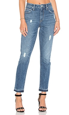 Lovers + Friends Logan High-Rise Tapered Jean in Las Palmas
