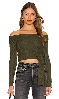 Alta Off Shoulder Wrap Sweater Lovers and Friends $178 NEW