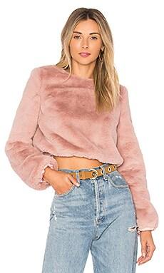 x REVOLVE Teagan Faux Fur Sweater Lovers + Friends $68