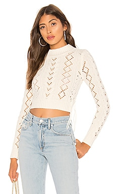 Lace Up Crop Sweater Lovers + Friends $83