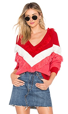 PULL ENCOLURE V NIKKI Lovers + Friends $81