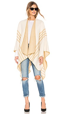 Poncho With Stripe Detail Lovers + Friends $58