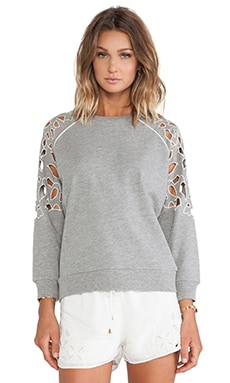 Lovers + Friends Eden Pullover in Heather Grey