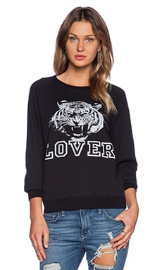 Lovers + Friends Wildcat Lover Pullover in Black