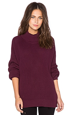 Lovers + Friends x REVOLVE Alexa Sweater in Dark Burgundy