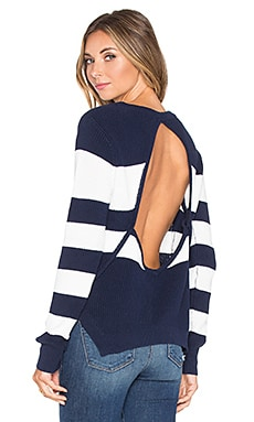 Lovers + Friends x REVOLVE Bright Sea Sweater in Navy & Ivory