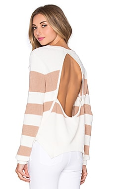 Lovers + Friends x REVOLVE Bright Sea Sweater in Ivory & Beige