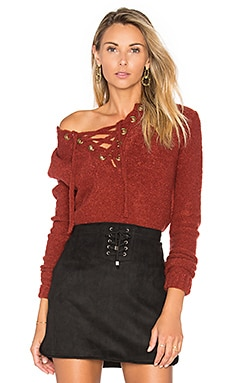 x REVOLVE Rocky Sweater in Strawberry