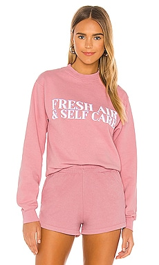 Fresh Air Self Care Sweatshirt Lovers + Friends $95