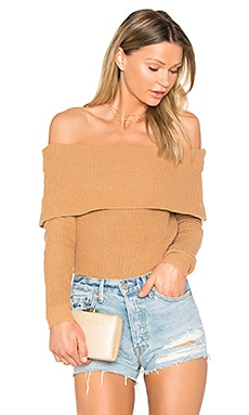x REVOLVE Vylette Sweater in Camel