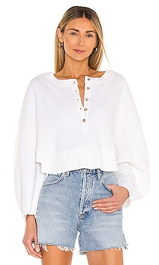 Oversized Henley Pullover Lovers + Friends $110