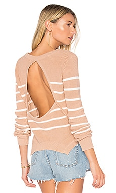 x REVOLVE Bright Sea Sweater in Nude & White