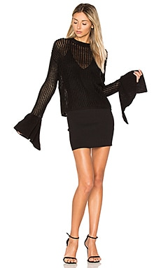 x REVOLVE Blown Sweater in Black
