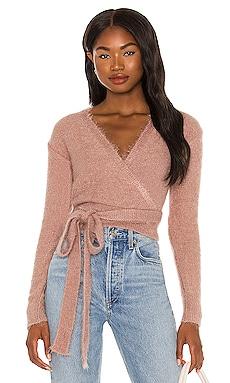 Tegan Wrap Sweater Lovers + Friends $71