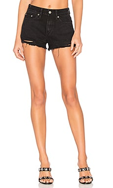 Jack High-Rise Shorts in Black Oak