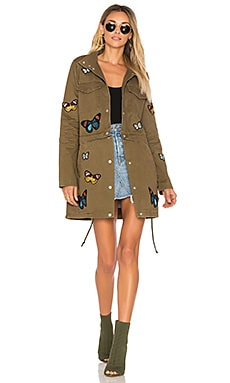 x REVOLVE Butterfly Parka in Army Green