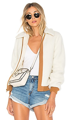 Simone Faux Fur Jacket Lovers + Friends $84