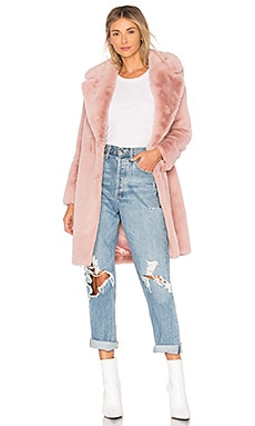 Romy Faux Fur Coat Lovers + Friends $258