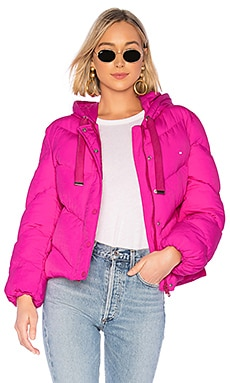 Lover Hooded Puffer Jacket Lovers + Friends $198