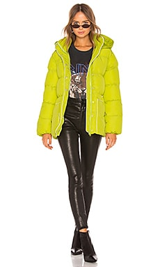 Lindsey Belted Puffer Jacket Lovers + Friends $137