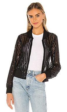 Nina Sequin Bomber Lovers + Friends $60 (FINAL SALE)