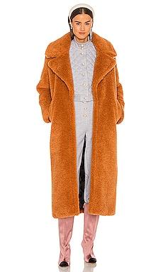Angelina Faux Fur Coat Lovers + Friends $378