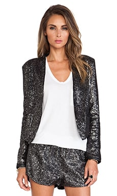 Lovers + Friends Parker Jacket in Gunmetal