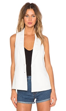 Lovers + Friends Shadow Vest in Ivory